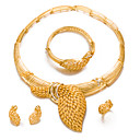 cheap Necklaces-Women's Jewelry Set - Gold Plated Statement, Fashion Include Gold For Wedding Party