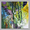olcso Állatos festmények-Hang festett olajfestmény Kézzel festett - Absztrakt Modern Anélkül, belső keret / Hengerelt vászon