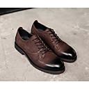 זול נעלי ספורט לגברים-בגדי ריקוד גברים עור נאפה Leather / עור אביב / סתיו נוחות נעלי אוקספורד שחור / קפה