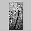 cheap Abstract Paintings-Oil Painting Hand Painted - Abstract Floral / Botanical Modern Canvas