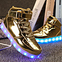 cheap Eyeshadows-Boys' Shoes PU(Polyurethane) Spring Comfort / Light Up Shoes Sneakers Walking Shoes Lace-up / Hook & Loop / LED for Silver / Blue / Pink