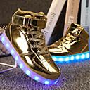 tanie Obuwie dziewczęce-Dla chłopców Obuwie PU Wiosna Wygoda / Świecące buty Adidasy Spacery Sznurowane / Haczyk i pętelka / LED na Srebrny / Niebieski / Różowy