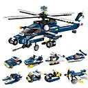 cheap Building Blocks-Building Blocks 381 pcs Military Stress and Anxiety Relief New Design Decompression Toys Classic Classic & Timeless Cartoon Helicopter Fighter Boys' Girls' Toy Gift