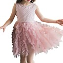 cheap Girls' Dresses-Girl's Daily Solid Colored Dress, Cotton Spring Summer Sleeveless Cute White Blushing Pink