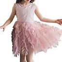 tanie Sukienki dla dziewczynek-Dzieci Dla dziewczynek Jendolity kolor Zebrany Bez rękawów Sukienka / Urocza