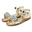 cheap Girls' Shoes-Girls' Shoes Patent Leather Summer Slingback / Flower Girl Shoes Sandals Sparkling Glitter / Hook & Loop for Gold / Silver