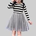 tanie Sukienki dla dziewczynek-Dzieci Dla dziewczynek Casual Wyjściowe Prążki / Patchwork Patchwork Długi rękaw Sukienka