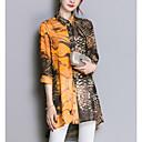 billige Moteøreringer-Skjortekrage Skjorte Dame Brun