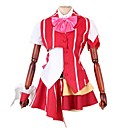 cheap Anime Costumes-Inspired by Macross Frontier Cosplay Anime Cosplay Costumes Cosplay Suits Other Short Sleeves Cravat Shirt Top Skirt Bow More Accessories