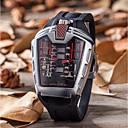 levne Vojenské hodinky-Pánské Hodinky na běžné nošení Módní hodinky Unikátní Creative hodinky Křemenný Silikon Černá Voděodolné Kalendář Hodinky na běžné nošení Analog - Digitál Na běžné nošení - Zelená Modrá Stříbrn