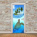 tanie Naklejki ścienne-Naklejki na drzwi - Naklejki ścienne lotnicze / Naklejki ścienne 3D Zwierzęta / Motyw morski Salon / Pokój dla dzieci / Możliwość zmiany miejsca