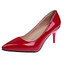 baratos Sapatos de Salto-Mulheres Sapatos Couro Envernizado Primavera / Outono Plataforma Básica Saltos Salto Agulha Dedo Apontado Roxo Claro / Vermelho / Vinho