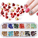 cheap Christmas Nail Art-1 pcs Nail Jewelry Rhinestones Crystal / Rhinestone nail art Manicure Pedicure Event / Party / Daily Bling Bling / Nail Glitter