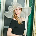 cheap Party Headpieces-Tulle Hats with Bow(s) 1pc Wedding / Party / Evening Headpiece