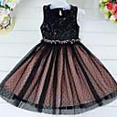tanie Sukienki dla dziewczynek-Brzdąc Dla dziewczynek Prosty Groszki Bez rękawów Sukienka