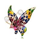 abordables Broches-Mujer Broche - Mariposa Vintage Broche Rojo,Azul,Púrpula Para Fiesta / Diario