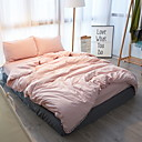cheap Solid Duvet Covers-Duvet Cover Sets Solid 4 Piece Poly/Cotton Yarn Dyed Poly/Cotton 1pc Duvet Cover 2pcs Shams 1pc Flat Sheet