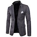 ieftine Neopren, Costume de scafandru & Bluză Protecție-Bărbați Rever Clasic Zvelt Mărime Plus Size Blazer De Bază Plisat / Manșon Lung