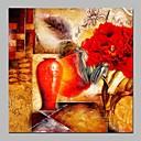 tanie Pejzaże-Hang-Malowane obraz olejny Ręcznie malowane - Religijne Zabytkowe Brezentowy / Rozciągnięte płótno