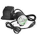 hesapli Fenerler-Kafa Lambaları Bisiklet Farı LED LED 6000 lm 1 Işıtma Modu Profesyonel, Yıpranmaz, Hafif Kamp / Yürüyüş / Mağaracılık, Bisiklete biniciliği, Avlanma Siyah