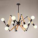 billige Lysekroner-LightMyself™ 10-Light Anheng Lys Omgivelseslys Malte Finishes Metall Tre / Bambus 110-120V / 220-240V Varm Hvit / Hvit Pære Inkludert / E26 / E27