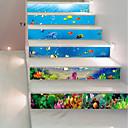 billige Veggklistremerker-Landskap Naturskjønn Veggklistremerker 3D Mur Klistremerker Animal Wall Stickers Dekorative Mur Klistermærker, Vinyl Papir Hjem Dekor
