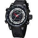 Χαμηλού Κόστους Αντρικά Αθλητικά-WEIDE Ανδρικά Αθλητικό Ρολόι Ψηφιακό ρολόι Ιαπωνικά Ψηφιακό καουτσούκ Μαύρο 30 m Ανθεκτικό στο Νερό Ημερολόγιο Διπλές Ζώνες Ώρας Αναλογικό-Ψηφιακό Πολυτέλεια - Μαύρο / Μεγάλο καντράν