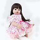 זול בובות-NPK DOLL בובה מחדש תינוקות בנות 22 אִינְטשׁ סיליקון / ויניל - כְּמוֹ בַּחַיִים, ריסים ידניים, ציפורניים אטומות וחותמות הילד של יוניסקס מתנות / עור טבעי / ראש דיסקט