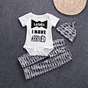 זול סטים של ביגוד לתינוקות-סט של בגדים כותנה שרוולים קצרים דפוס פשוט / פעיל / בסיסי בנים תִינוֹק / פעוטות