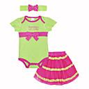 זול אוברולים טריים לתינוקות-תִינוֹק סט של בגדים כותנה קיץ שרוולים קצרים יומי חגים דפוס בנות חמוד תלתן