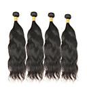 tanie Dopinki w naturalnych kolorach-4 zestawy Włosy mongolskie Naturalne fale Włosy remy Człowieka splotów włosów Ludzkie włosy wyplata Ludzkich włosów rozszerzeniach