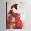 זול ציורי שמן-ציור שמן צבוע-Hang מצויר ביד - אנשים מודרני בַּד