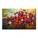 tanie Obrazy olejne-styledecor® nowoczesne ręcznie malowane abstrakcyjne kolorowe kwiaty obraz olejny na płótnie do salonu-60 * 90cm na owiniętym płótnie