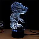 זול תאורה מודרנית-1set אור תלת ממדי לגעת 7-Color DC מופעל הפגת מתחים וחרדה עם יציאת USB החלפת צבעים