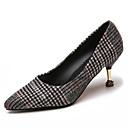 זול נעלי ספורט לגברים-בגדי ריקוד נשים נעליים PU אביב / קיץ נוחות עקבים עקב קצר בוהן מחודדת שחור / כתום / אדום