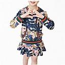 זול שמלות לבנות-שמלה כותנה פוליאסטר אביב סתיו שרוול ארוך יומי פרחוני הילדה של פשוט חמוד פול