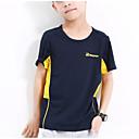 cheap Boys' Clothing Sets-Boys' Sports School Color Block Tee, Polyester Summer Short Sleeves Active Orange Red Gray Light gray Royal Blue