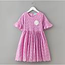 preiswerte Kleider für Mädchen-Kinder Mädchen Einfach Solide Spitze Kurzarm Kleid