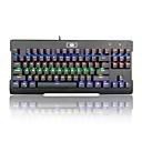 זול Laptop Bags-REDRAGON K561RGB חוטי כבל תאורה אחורית RGB מתגי כחול 87 מקלדת ארגונומית מקלדת משחקים נייד נוח באקליט