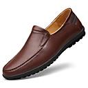 זול מגפיים לגברים-בגדי ריקוד גברים עור נאפה Leather / עור אביב / סתיו נוחות נעליים ללא שרוכים שחור / חום
