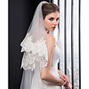 cheap Wedding Shoes-Two-tier Embroidery Wedding Veil Chapel Veils with Embroidery Tulle / Classic