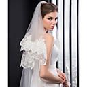 זול הד פיס למסיבות-שתי שכבות רקמה הינומות חתונה צעיפי קפלה עם ריקמה טול