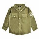 זול ג'קטים ומעילים לבנים-בנים פשוט כותנה מכנסיים - אחיד ירוק צבא / חגים