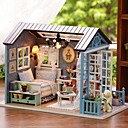 cheap Doll Houses-Doll House DIY Miniature Dollhouse Model Exquisite Lovely Romance Silicone Pieces Girls' Kid's Gift