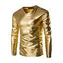 tanie Mocowanie przysufitowe-T-shirt Męskie Podstawowy Bawełna W serek Szczupła - Solidne kolory / Długi rękaw