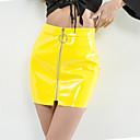 abordables Accesorios para el Cabello-Mujer Básico Chic de Calle Corte Bodycon Faldas Un Color