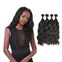 זול תוספות שיער בגוון טבעי-4 חבילות שיער ברזיאלי גלי טבעי שיער ראמי טווה שיער אדם 12-30 אִינְטשׁ שוזרת שיער אנושי תוספות שיער אדם