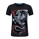 cheap NVR Kits-Men's Sports Basic Street chic Plus Size Cotton T-shirt - Geometric Animal, Print Round Neck