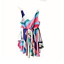 tanie Sukienki dla dziewczynek-Brzdąc Dla dziewczynek Aktywny Urlop Prążki Bez rękawów Sukienka / Bawełna