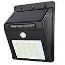 cheap LED Flood Lights-1pc 2 W LED Solar Lights Waterproof / Infrared Sensor / Light Control White 3.7 V Outdoor Lighting 20 LED Beads